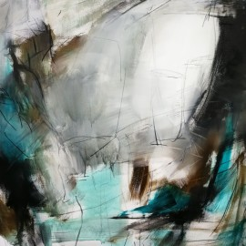 The Cave II,100x120x2 cm, Acrylic, charcoal and graphite on canvas
